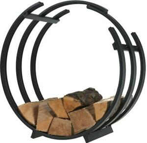 Circular Round Log Basket Storage Outdoor Indoor Fireplace Accessories Store