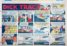 Dick Tracy by Chester Gould - large half-page Sunday color comic, March 31, 1957