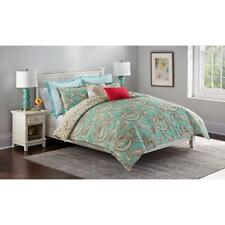 Cannon 7-Pc Aqua Paisley KING Comforter Set