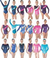 Gymnastics Leotards Gym Leotard Velvet Lycra Metallic Sparkly Girls Dancewear