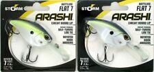 (2) Storm Arashi Rattling Flat 7 Circuit Lip Crankbaits Hot Blue Shad AFT07612