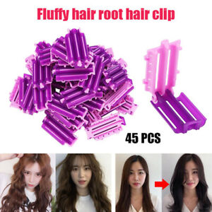 45pcs Hair Clip Wave Perm Rod Bars Corn DIY Curler Fluffy Clamps Rollers Tool SX