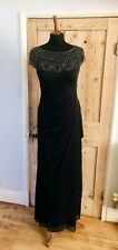 STUNNING Beaded Evening Dress Gown by XSCAPE , UK 8 ... New Without Tags