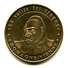 86 ROMAGNE La Vallée des Singes 2, Gorille 2, 6 points, 2005, Monnaie de Paris