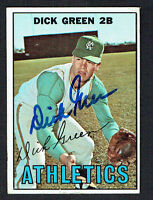 Dick Green #54 signed autograph auto 1967 Topps Baseball Trading Card