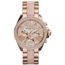 Michael Kors Ladies' Wren Pavé Acetate & Rose Gold-Tone Designer Watch MK6096