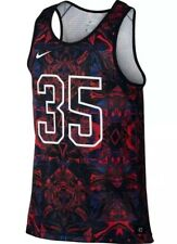 Nike Men's Kevin Durant Hyper Elite Tank Top - Black/Blue/Red (800061 667) Large
