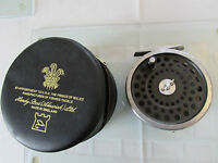 "good vintage hardy marquis no.8/9  trout fly fishing reel 3 & 5/8ths"" + case"