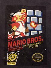 Used Super Mario Bros. Charcoal Grey Medium T-shirt Nintendo Video Game