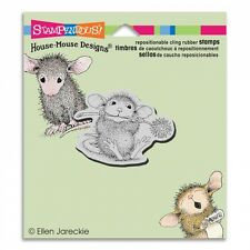 HOUSE MOUSE RUBBER STAMPS CLING CHIVE CHEWING NEW cling STAMP