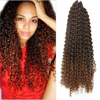 "18"" Ombre Crochet Braids Water Wave Hair Synthetic Curly Braiding Hair Extension"