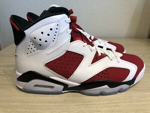 Air Jordan 6 Carmine(2021) 9 D/S OG Everything- pink on midsole's-
