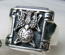 Excellent Vintage Knights of Columbus Navigator Ring 925 silver