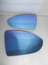 Side Mirror Glass  FOR VW Golf7 Mk7  GOLF 7  Blue Tinted W/holder Heated L+R set