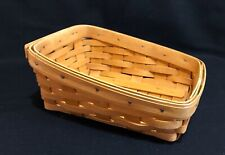 Longaberger 2000 Classic NOTE PAL Hardwood Maple Basket