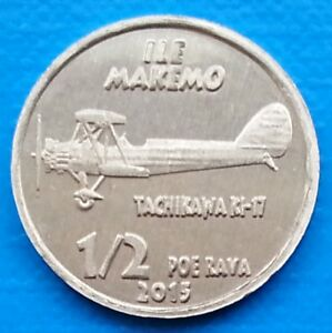 Makemo Island ½ poe rava 2015 UNC WWII Japan Aircraft Tachikawa KI-17 unusual