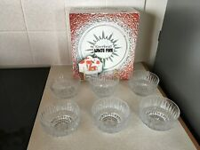 More details for vintage ravenhed white fire, 6 sundae dishes compotiers