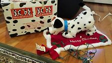 101 Dalmatians Animated Christmas Dog Dipstick w/ Bone & Original Box No Sound