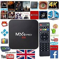 MXQ PRO TV Box Media Streamer 4K Android 7.1 KODI 17.6 S905W Quad-Core 1+8G Wifi