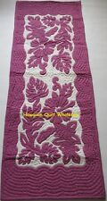 Hawaiian quilt hand quilted/appliquéd handmade TABLE BED runner HIBISCUS