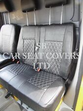 TO FIT A MERCEDES SPRINTER VAN, 2014, SEAT COVERS, ROSSINI DIAMOND BLACK PVC