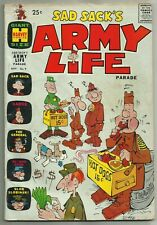 SAD SACK'S ARMY LIFE PARADE #9 (Military Humor, Hot Dog Cover) Harvey, 1965