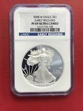 2008-W American Silver Eagle $1 ASE NGC PF69 Ultra Cameo Early Releases