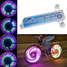 32 LED Colorful Rainbow Bicycle Bike Wheel Spoke Light Flashing Side Tire Lamp