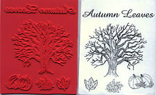 unmounted rubber stamps   Autumn Leaves and Oak Tree  5 images