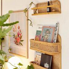 Hand knitted Bamboo Wall Storage Bookshelf Rack Wall Hanger Organizer