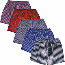 Alexander Del Rossa Mens Satin Boxer Shorts Striped Underwear Size XL Pack of 5
