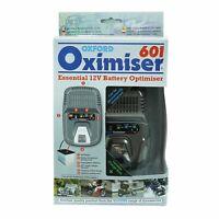 Oxford Oximiser 601 Battery Charger Optimiser UK 12V Maximiser OF600 + Bracket