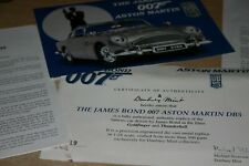 DANBURY MINT ASTON MARTIN DB5 JAMES BOND 007 CERTIFICATE AND PAPERWORK