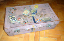 Old Suitcase with Many Stickers Um 1900 Vintage