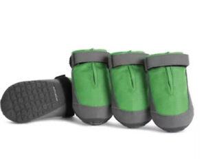 """New! Ruffwear Summit Trex Dog Boots Set of 4 Meadow Green Sz 2.75""""/70MM"""