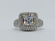 6 / 5.7g. / #590 Nice!~925 Sterling Silver~Multi Cz-Cocktail Ring -Sz: