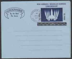NEW HEBRIDES 1977 SURCHARGED AEROGRAMME FIRST DAY POSTMARK