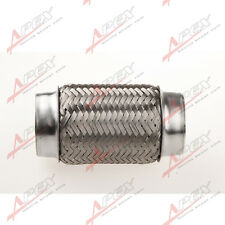 "1.75"" Exhaust Flex Pipe 6"" Heavy Duty Stainless Steel Bellows Inner Braid"