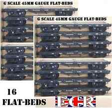 16 X G SCALE 45mm GAUGE FLATBED TO BUILD ON. RAILWAY TRUCK GARDEN TRAIN FLAT BED