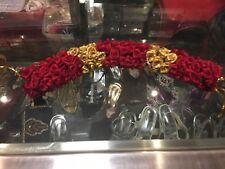 Flowers 4 Hair Malai Saram Garland Bollywood Indian Bridal Kajra Maroon Gold