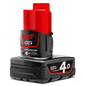 Genuine MILWAUKEE M12B4  12V 4.0 AH RED LITHIUM GENUINE BATTERY  48-11-2440