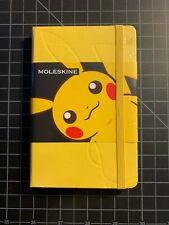 "Japan Pokemon Center Moleskine Pikachu 3.5""x5.5"" (9x14cm) Ruled Notebook"