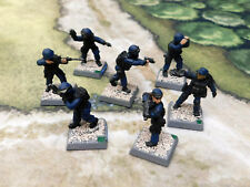 7 x 28mm Painted Foundry, other manufacturer SWAT Team Police - I