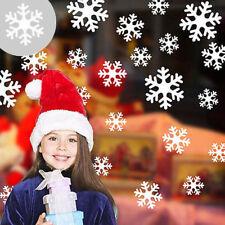 54 x Snow Window Stickers, Christmas Silver Snow Flake Xmas Home Decoration