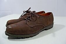 TIMBERLAND GENUINE LEATHER WATERPROOF DRESS SHOES MENS 96080 SIZE 9.5W BROWN!