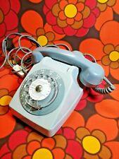 Magnifique téléphone Socotel S63 RÉTRO GRIS SOURIS à cadran rotatif vintage PTT