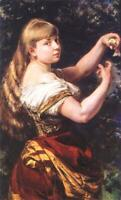 """high quality oil painting  handpainted on canvas """"a girl with a bird """""""