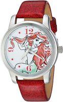 Disney Women's The Little Mermaid Ariel Quartz Metal Casual Red Watch WDS000076