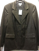New Talbots Women's Jacket Coat Blazer Size 14W Cotton Silk Blend
