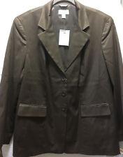 Talbots Women's Jacket Coat Blazer Size 14W Cotton Silk Blend